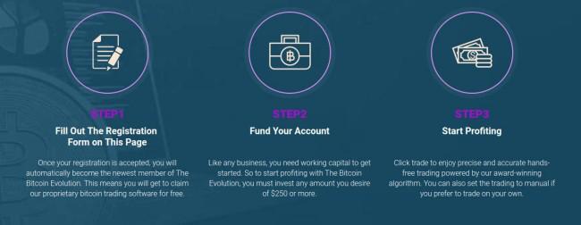 start trading on Bitcoin Evolution
